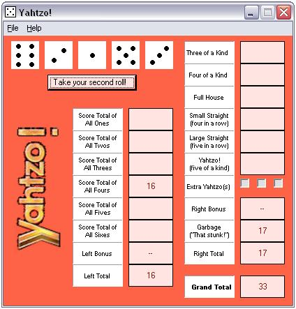 Yahtzo! Screenshot